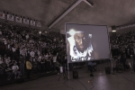 Party People Inc. provide the screens at UConn to watch the National Championship