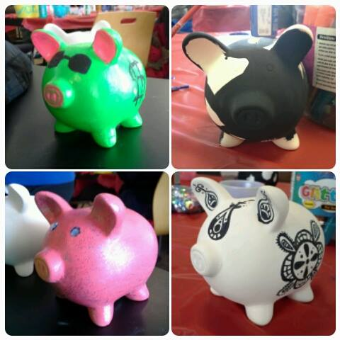Make your own decorate a piggy bank party people inc for How to make a coin bank