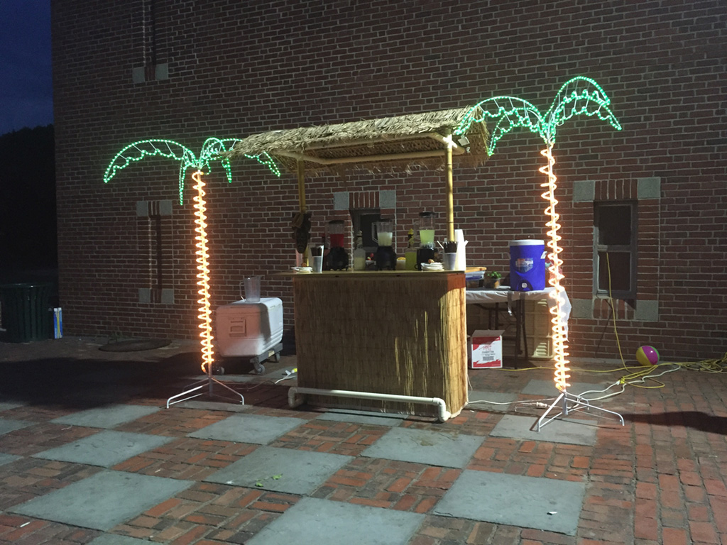 Tiki bar party people inc the tiki bar comes with bartenders the portable tiki bar a variety of non alcoholic frozen drinks and all the garnishes the tiki bar is perfect for any aloadofball Image collections